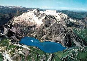 AK / Ansichtskarte Brand_Vorarlberg Lunersee Bergsee Scesaplana Fliegeraufnahme Brand Vorarlberg