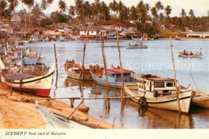 AK / Ansichtskarte Terengganu Scenery in a fishing village