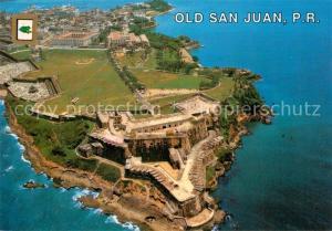 AK / Ansichtskarte San_Juan_Puerto_Rico Old San Juan Castillo San Felipe del Morro vista aerea San_Juan_Puerto_Rico
