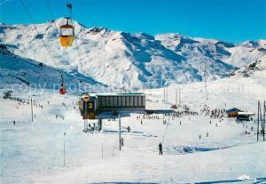 AK / Ansichtskarte Val_Thorens_Savoie Arrivees des pistes Gare de depart du telecabine Sports d hiver Alpes Francaises Val_Thorens_Savoie