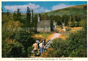 AK / Ansichtskarte Glendalough St Kevin s Church and Round Tower Glendalough
