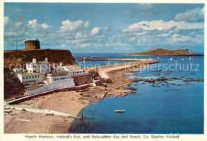 AK / Ansichtskarte Howth Harbour Ireland s Eye and Balscadden Bay and Beach Howth