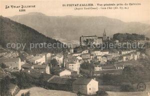 AK / Ansichtskarte Saint Privat d_Allier Vue generale prise du Calvaire Saint Privat d Allier