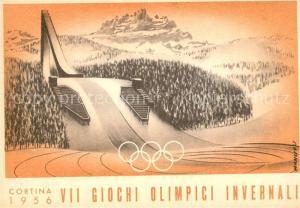 AK / Ansichtskarte Olympia Winterspiele Cortina Trampolino Italia
