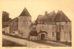 AK / Ansichtskarte Giry Chateau Entree Giry