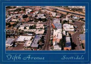 AK / Ansichtskarte Scottsdale Aerial view of famous Fifth Avenue Scottsdale