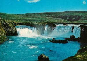 AK / Ansichtskarte Island Godafoss Wasserfall Landschaftspanorama Island
