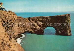 AK / Ansichtskarte Island Dyrholaey Halbinsel Felsen Kueste Island