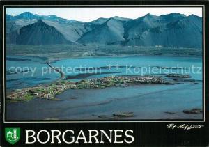AK / Ansichtskarte Borgarnes Fliegeraufnahme