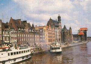 AK / Ansichtskarte Gdansk Dlugie Pobrzeze przystan statkow Zeglugi Gdanskiej Gdansk