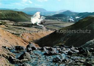 AK / Ansichtskarte Island Kroefluvirkjun Krafla Kraftwerk Geothermalkraftwerk Island