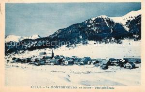 AK / Ansichtskarte Montgenevre en hiver Vue generale Montgenevre