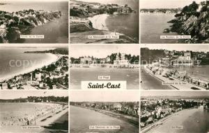AK / Ansichtskarte Saint Cast le Guildo Pointe de la Garde Le Monument et la Plage Les Rochers de la Pointe La Plage Boulevard de Mer Vue generale Saint Cast le Guildo