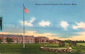 AK / Ansichtskarte Ayer_United States Parade Grounds Fort Devens