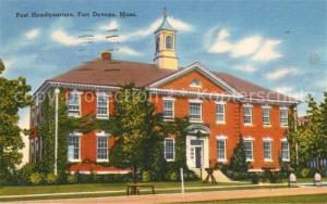 AK / Ansichtskarte Ayer_United States Fort Devens Post Headquartiers
