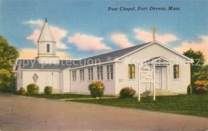 AK / Ansichtskarte Ayer_United States Post Chapel Fort Devens