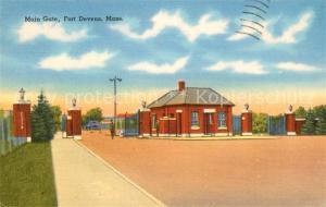 AK / Ansichtskarte Ayer_United States Main Gate Fort Devens