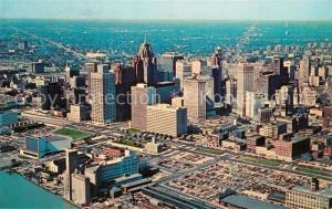 AK / Ansichtskarte Detroit_Michigan Fliegeraufnahme