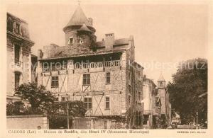 AK / Ansichtskarte Cahors Maison de Roaldes Henri IV  Cahors