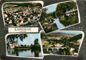 AK / Ansichtskarte Langeac Vue generale aerienne Vue partielle Langeac