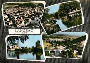 AK / Ansichtskarte Langeac Vue aerienne Vue partielle Langeac
