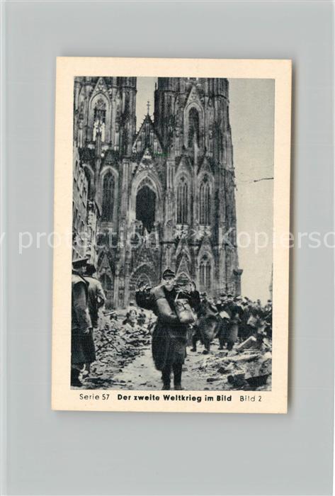 AK / Ansichtskarte Militaria_Deutschland_WK2 Von Stalingrad bis N?rnberg Vorstoss ?ber den Rhein Remagen Einnahme von K?ln Eilebrecht Zigaretten  0