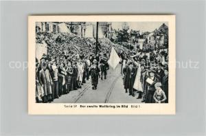 AK / Ansichtskarte Militaria_Deutschland_WK2 Von Stalingrad bis N?rnberg Das Ende M?nchen am 30. April Eilebrecht Zigaretten