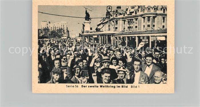 AK / Ansichtskarte Militaria_Deutschland_WK2 Von Stalingrad bis N?rnberg Zusammenbruch auf dem Balkan Bukarest empf?ngt die Rote Armee Eilebrecht Zigaretten  0