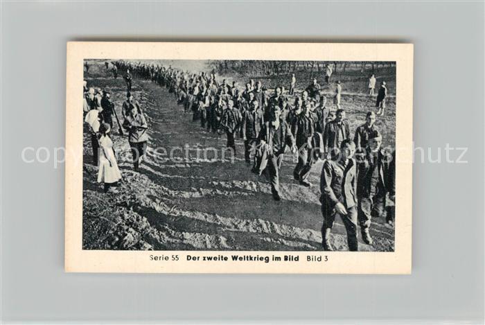 AK / Ansichtskarte Militaria_Deutschland_WK2 Von Stalingrad bis N?rnberg Kriegsgefangene in Russland Endlose Kolonnen Eilebrecht Zigaretten  0