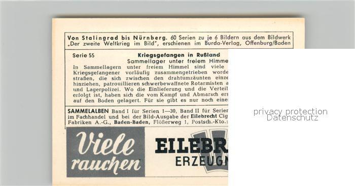 AK / Ansichtskarte Militaria_Deutschland_WK2 Von Stalingrad bis N?rnberg Kriegsgefangene in Russland Sammellager Eilebrecht Zigaretten  1