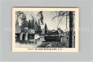 AK / Ansichtskarte Militaria_Deutschland_WK2 Von Stalingrad bis N?rnberg Zusammenbruch im Osten Tiger Panzer Eilebrecht Zigaretten