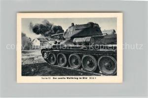 AK / Ansichtskarte Militaria_Deutschland_WK2 Von Stalingrad bis N?rnberg Zusammenbruch im Osten Panzer T 34 Eilebrecht Zigaretten