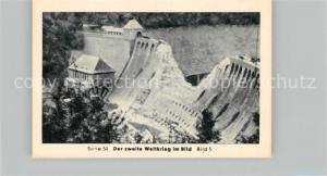 AK / Ansichtskarte Militaria_Deutschland_WK2 Von Stalingrad bis N?rnberg Bomben auf Deutschland Edertalsperre Eilebrecht Zigaretten
