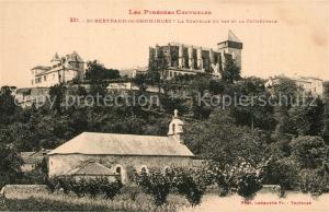 AK / Ansichtskarte Saint Bertrand de Comminges Chapelle du bas et la Cathedrale Saint Bertrand de Comminges