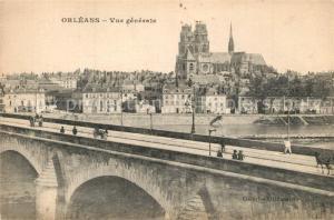 AK / Ansichtskarte Orleans_Loiret Pont de la Loire Cathedrale Orleans_Loiret