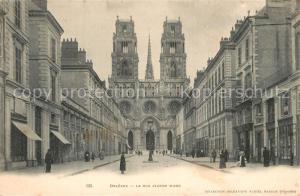 AK / Ansichtskarte Orleans_Loiret Rue Jeanne d Arc Cathedrale Orleans_Loiret