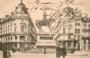 AK / Ansichtskarte Orleans_Loiret Place du Martroi Monument Orleans_Loiret