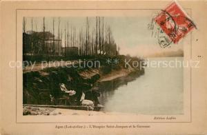 AK / Ansichtskarte Agen_Lot_et_Garonne Hospice Saint Jacques et la Garonne Agen_Lot_et_Garonne