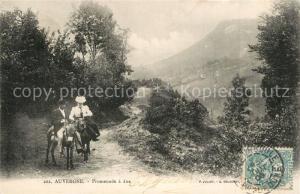 AK / Ansichtskarte Auvergne_Region Promenade a ane Auvergne Region