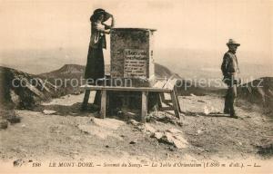 AK / Ansichtskarte Le_Mont Dore_Puy_de_Dome Sommet du Sancy Table d Orientation Le_Mont Dore_Puy_de_Dome