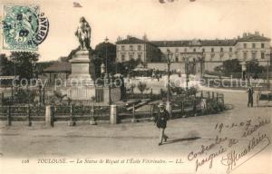 AK / Ansichtskarte Toulouse_Haute Garonne Statue de Riquet Monument Ecole Veterinaire Toulouse Haute Garonne