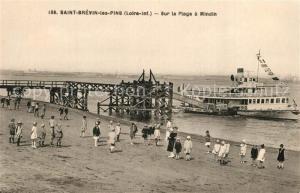AK / Ansichtskarte Saint Brevin les Pins Sur la plage a Mindin Saint Brevin les Pins