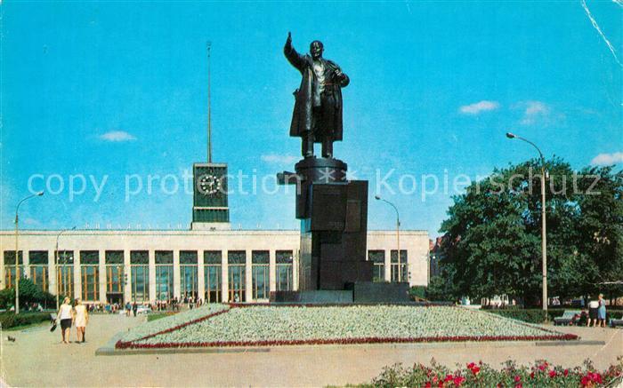 AK / Ansichtskarte Leningrad_St_Petersburg Finische Bahnhof Lenindenkmal Leningrad_St_Petersburg 0