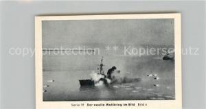 AK / Ansichtskarte Militaria_Deutschland_WK2 Von N?rnberg bis Stalingrad Kriegsmarine auf allen Meeren Minenr?umboote Eilebrecht Zigaretten