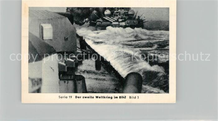AK / Ansichtskarte Militaria_Deutschland_WK2 Von N?rnberg bis Stalingrad Kriegsmarine auf allen Meeren Schlachtschiff Gneisenau im Kampf Eilebrecht Zigaretten  0