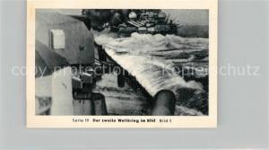 AK / Ansichtskarte Militaria_Deutschland_WK2 Von N?rnberg bis Stalingrad Kriegsmarine auf allen Meeren Schlachtschiff Gneisenau im Kampf Eilebrecht Zigaretten