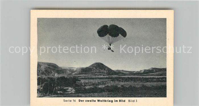 AK / Ansichtskarte Militaria_Deutschland_WK2 Von N?rnberg bis Stalingrad Kreta Gesch?tze am Fallschirm Eilebrecht Zigaretten  0