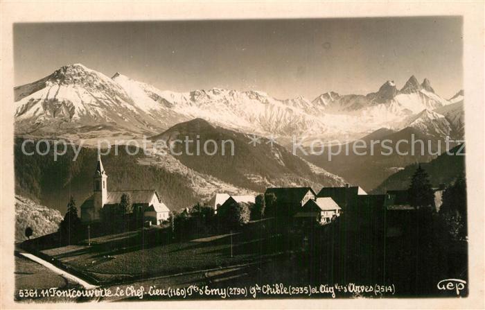 AK / Ansichtskarte Fontcouverte_la_Toussuire Panorama village Alpes Fontcouverte_la_Toussuire 0