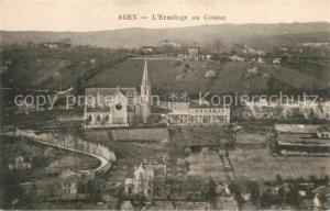 AK / Ansichtskarte Agen_Lot_et_Garonne Ermitage au Coteau vue aerienne Aux Martyrs Agenais Agen_Lot_et_Garonne