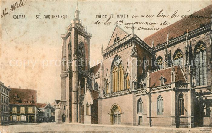 AK / Ansichtskarte Colmar_Haut_Rhin_Elsass St Martinskirche Eglise Saint Martin Colmar_Haut_Rhin_Elsass 0